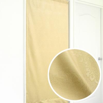 布安於室-似桂冠葉遮光壓紋長門簾-駝色