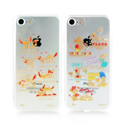 Disney 迪士尼iPhone 7金蒔繪雙料彩繪保護殼-DisneyBaby