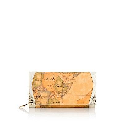 Alviero Martini地圖包 Lotus 地圖扣式長夾