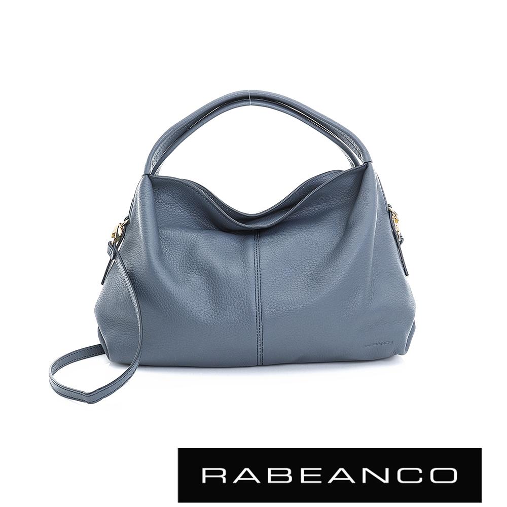 RABEANCO  都會領袖系列弧形包身設計手提/肩背包 -星河藍