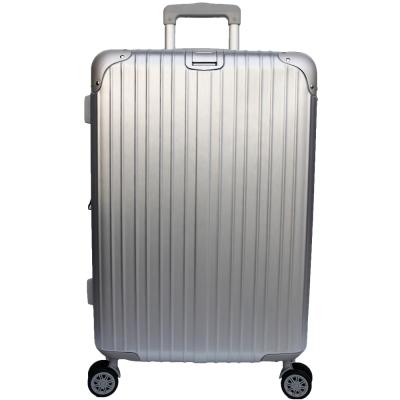 YC Eason 麗致20吋PC髮絲紋可加大海關鎖行李箱 銀