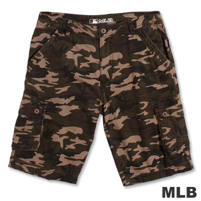 MLB-紐約洋基隊六口袋迷彩短褲-卡其(男)