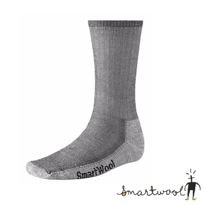 【美國 SmartWool】美麗諾羊毛 男 中高筒健行羊毛襪(2入)_灰