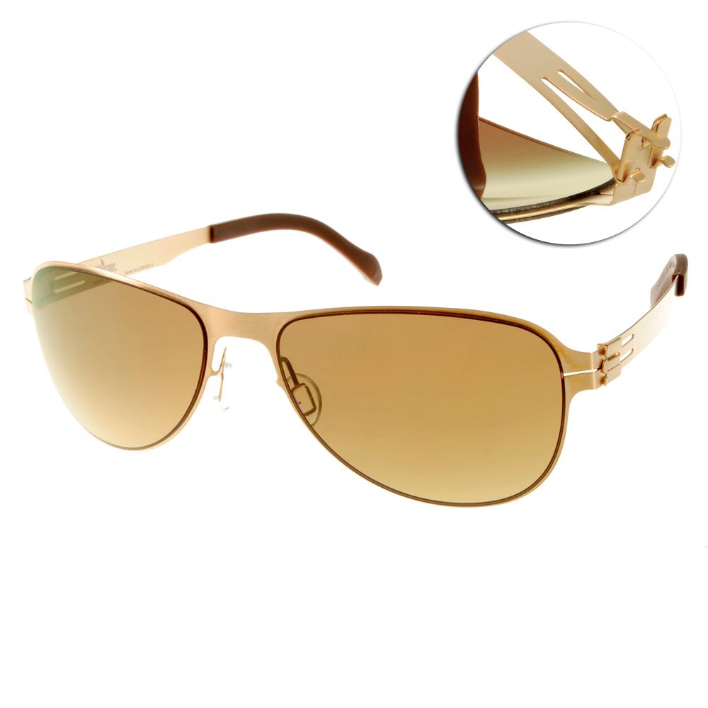 Whisper太陽眼鏡 薄翼鏡框/金-咖啡#WHM0003S C37L