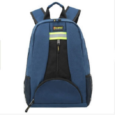 雙肩帆布工具背包多功能電工包電梯維修工具包帆布加厚-藍色