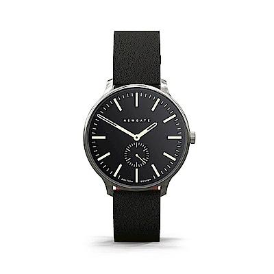 Newgate-BLIP-經典小秒針-紳士黑-皮革錶帶-40mm