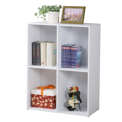 Homelike 現代風二層四格置物櫃-DIY