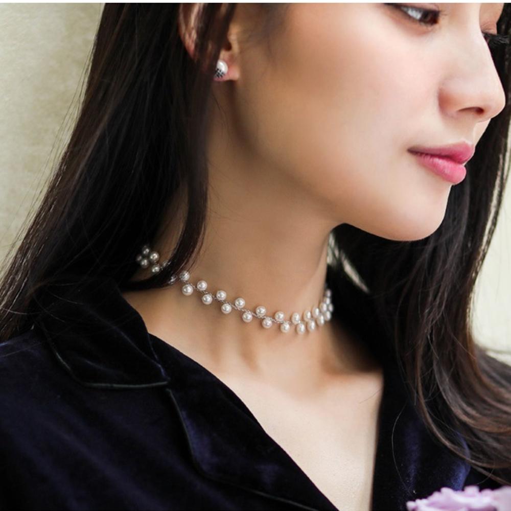 梨花HaNA 韓國永恆意涵珍珠華貴短項鍊