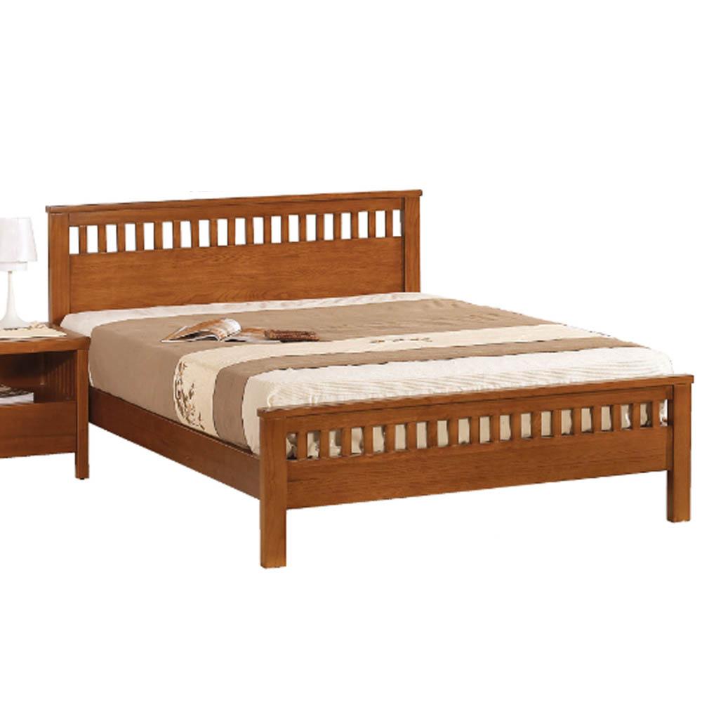 AT HOME - 李維3.5尺柚木實木單人床 (不含床墊)