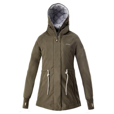 【hilltop山頂鳥】女款超撥水保暖蓄熱羽絨短大衣F22FU5綠