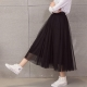 中大尺碼-網紗長裙蓬蓬裙紗裙La-Belleza