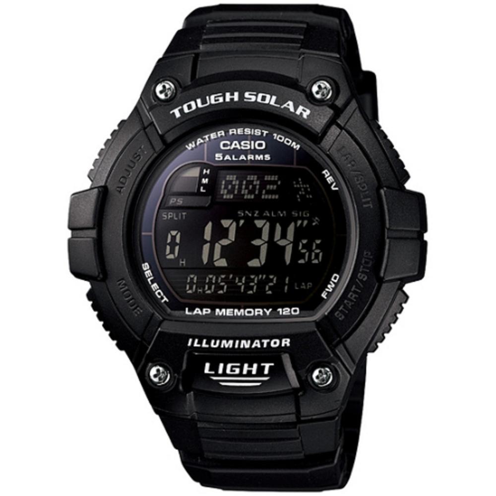 CASIO 陽光遊俠全方位電子運動錶( W-S220-1B)-黑框/49mm