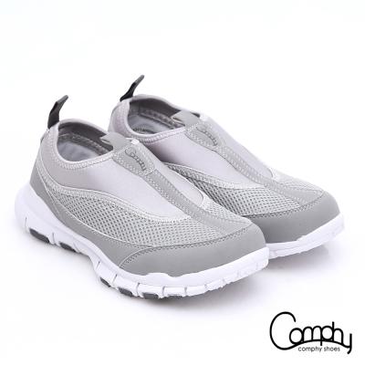 Comphy羽量抗菌 直套輕量抗震健走鞋 淺灰色