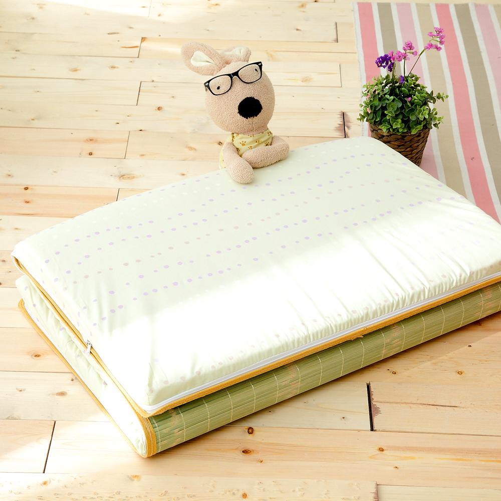 (好康)Saint Rose  單人台灣製純棉透氣精緻三折式冬夏兩用床墊-飛揚芭蕾