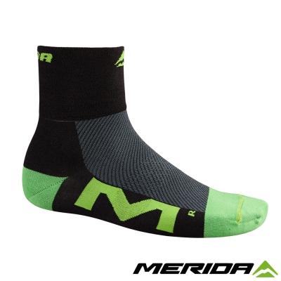 《MERIDA》美利達自行車Coolmax襪子-黑/綠