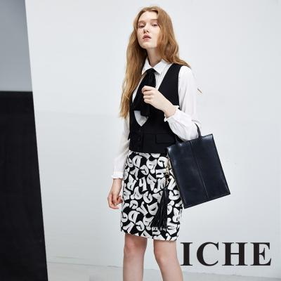 ICHE-衣哲-百搭簡約羊毛多穿造型背心