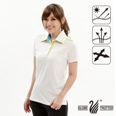 【遊遍天下】女款抗UV吸濕排汗機能POLO衫GS10019白色
