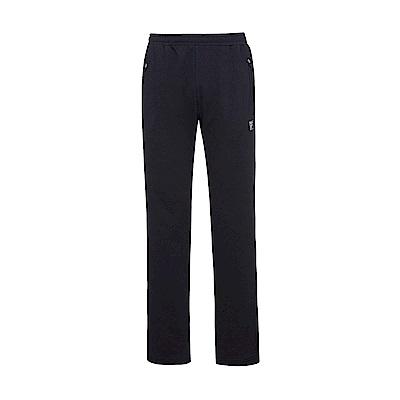 FILA 男吸濕排汗針織長褲-黑1PNS-1306-BK