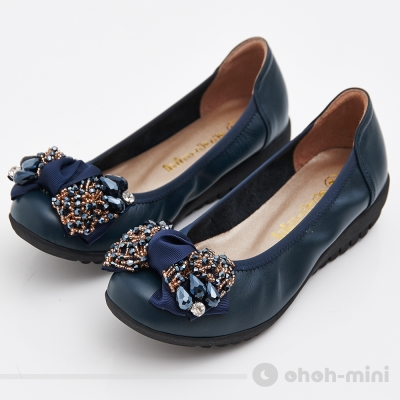 ohoh-mini孕婦裝-蝴蝶串珠紓壓氣墊鞋-孕婦