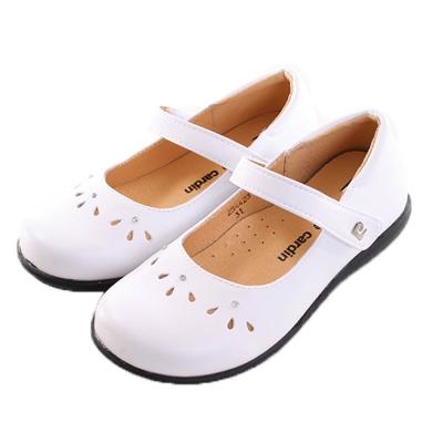 真皮內裡娃娃鞋-白 sb2129