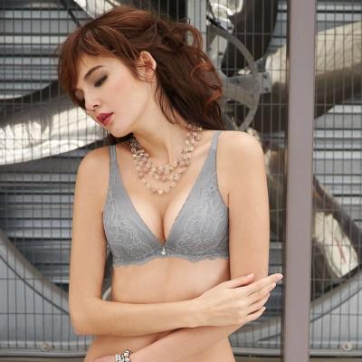 曼黛瑪璉-V極線性感內衣-B-D成套內衣-星辰灰