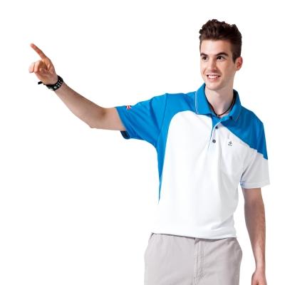 【SPAR】吸濕排汗男版短袖POLO衫(SP48196)亮藍色