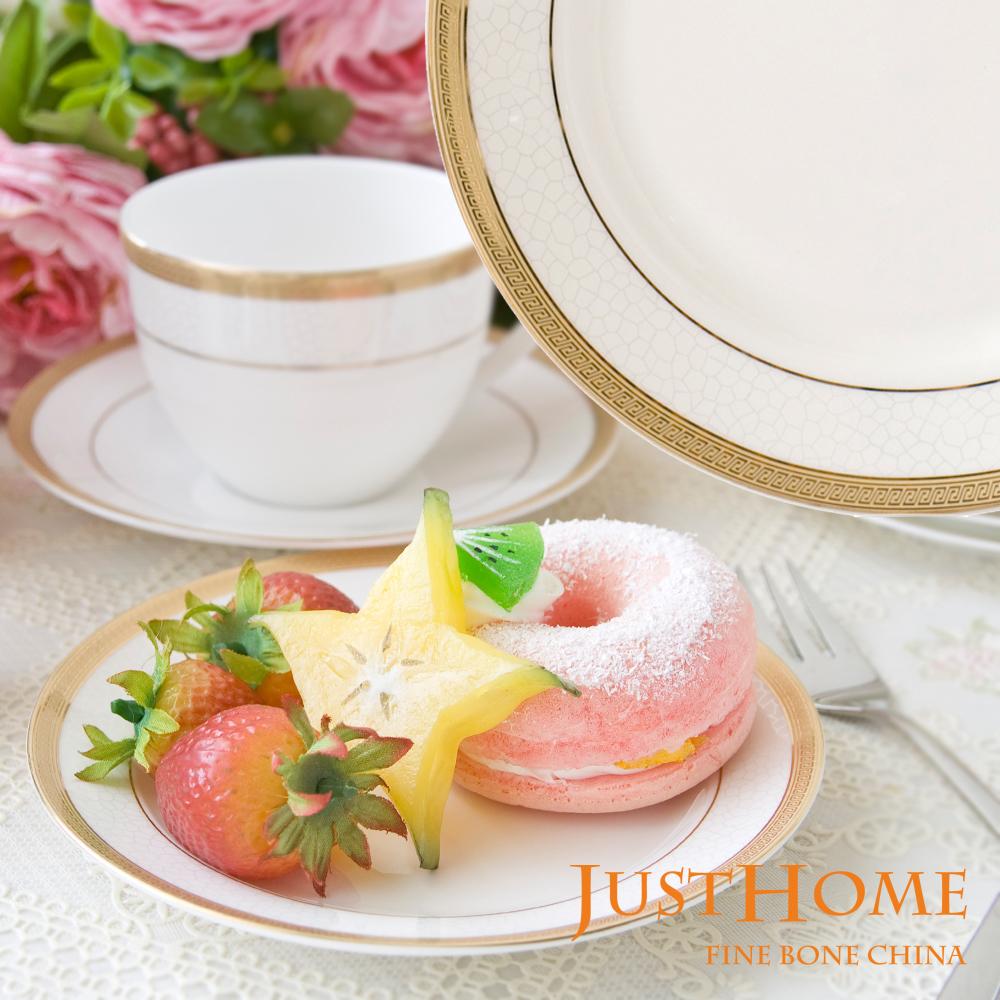 Just Home 金莎高級骨瓷6吋點心盤(4入組)