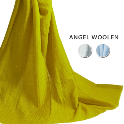 Angel-Woolen燦爛星光Pashmina印度手工水鑽披肩-圍巾-共三色
