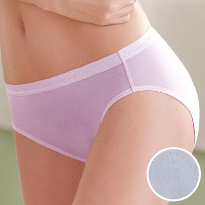 華歌爾-環保天然纖維天絲內褲M-LL中腰三角褲(冰點藍)
