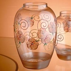 Madiggan玫瑰系列手工彩繪橢圓花瓶-中(粉紅色)