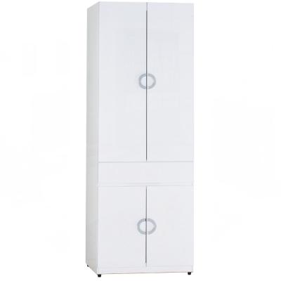 AT HOME - 凱倫2.3 尺白色中抽掀鏡衣櫃 70x54x197cm