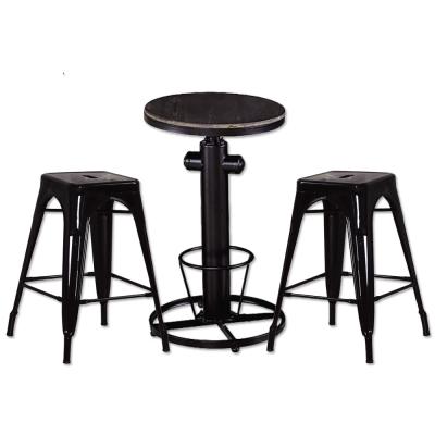 AT HOME-狄倫升降吧台桌+哈利中吧台椅 桌椅組 55x55x110cm