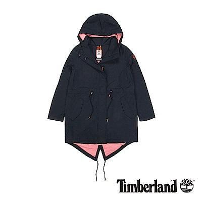 Timberland  女款暗藍色DV Pine Mtn 鋪棉連帽外套