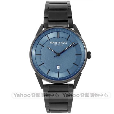 Kenneth Cole 簡約質感時尚手錶-藍X黑/41mm
