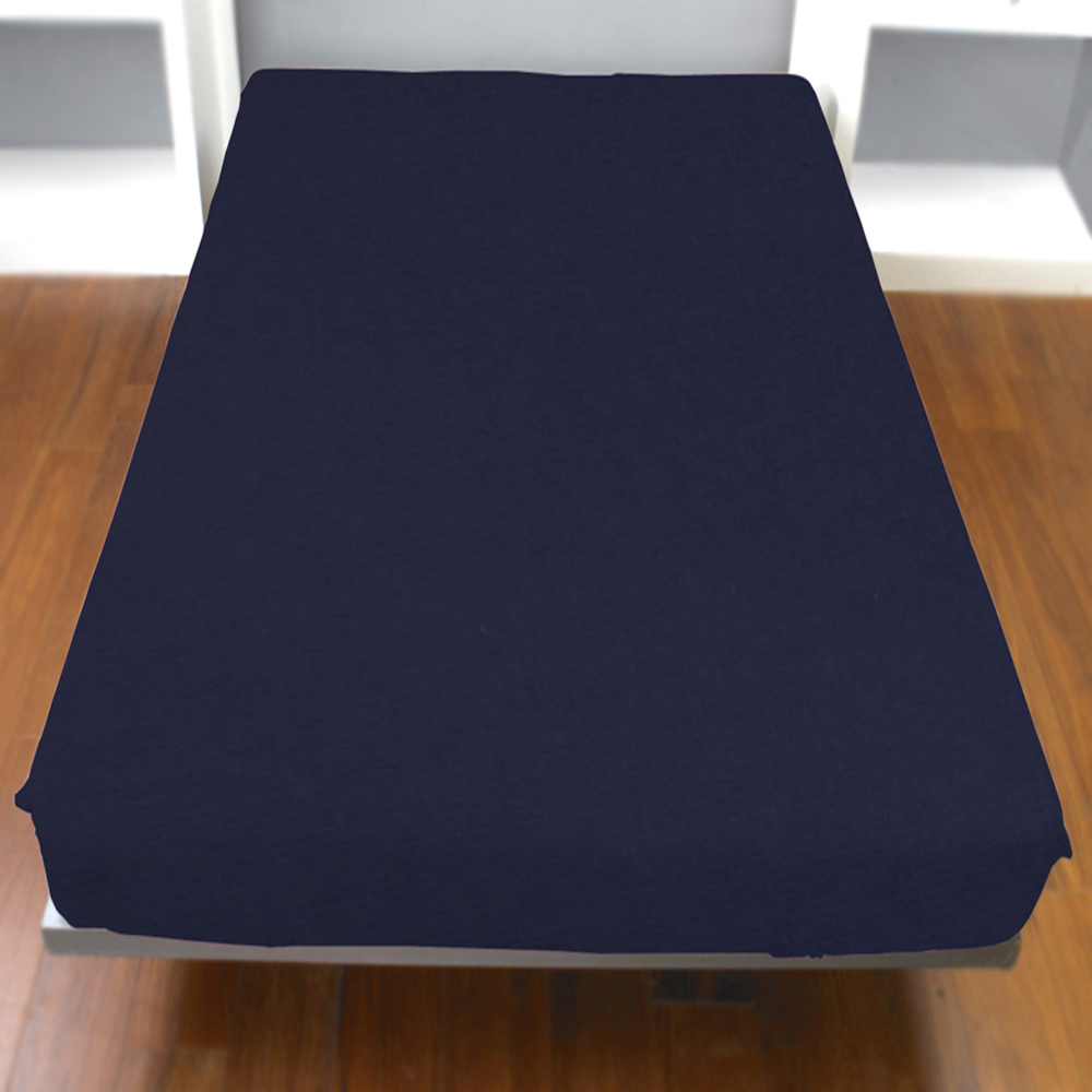 《YVONNE》單人純棉床包 (皇家藍)