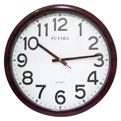 FUTABA高級超靜音紅大理石紋大掛鐘 355
