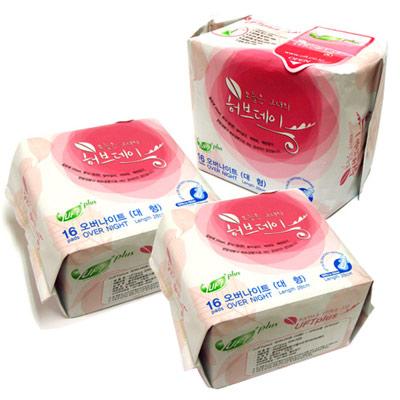 天然【UFT】韓風草本假期衛生棉-熟睡夜用3包