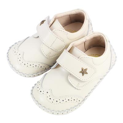 Swan天鵝童鞋-牛津雕花學步鞋1445-米