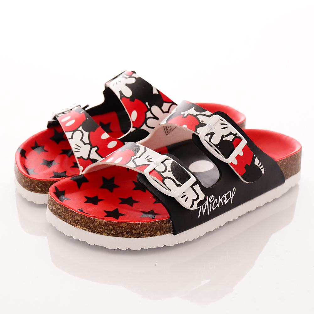 迪士尼童鞋-米奇休閒涼鞋款-FO54725黑(中小童段)T1