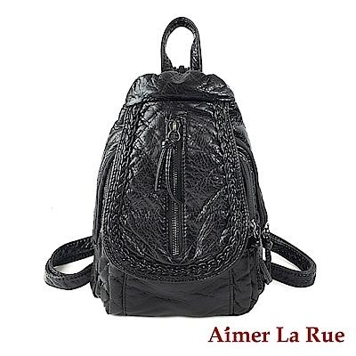 Aimer La Rue 後背包 黑魔島水洗系列(黑色)