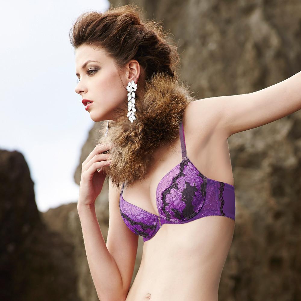 曼黛瑪璉-唯曼黛優雅內衣  B-D罩杯(高貴紫)