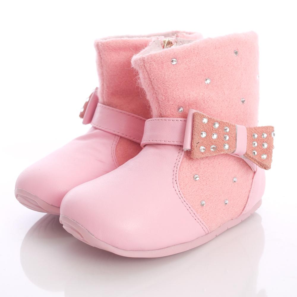 日本櫻桃嚴選~典雅晶鑽靴款-8231粉(中小童段)