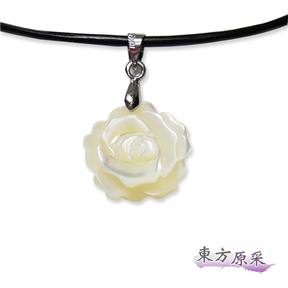東方原采-自然系幸福玫瑰貝殼項鍊