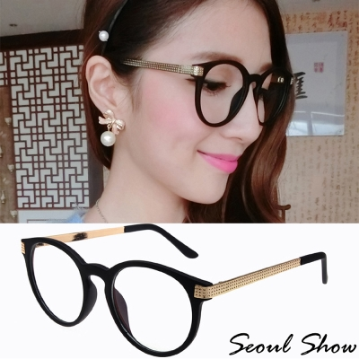 Seoul-Show-金屬點線紋平光眼鏡-760
