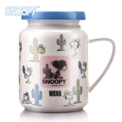 SNOOPY史努比 史努比清漾牛奶馬克杯490ml(8H)