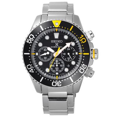 SEIKO 怒海潛將太陽能計時潛水腕錶-SSC613P1-44mm