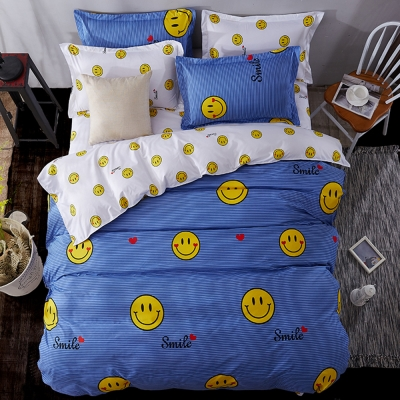 Alieen 個性印花 四件式涼被床包組 加大 微笑達人