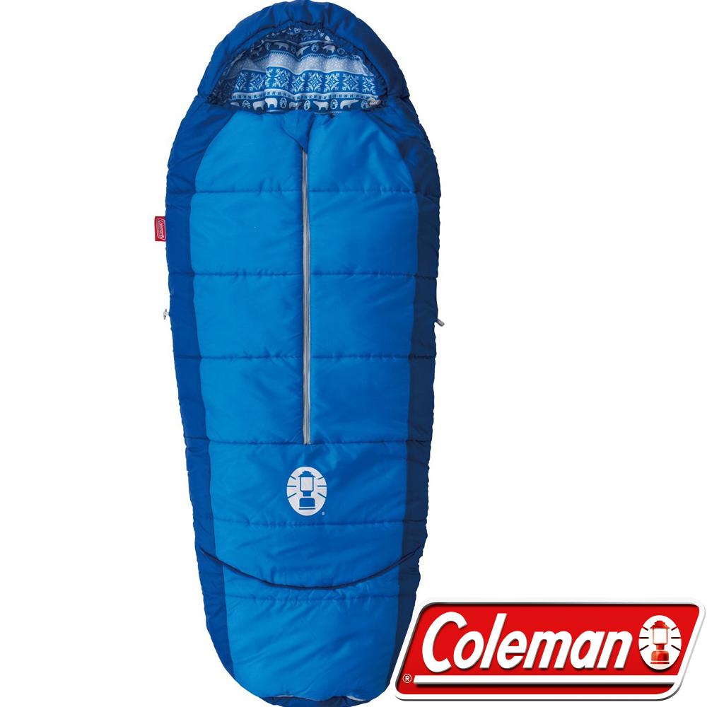 Coleman 27270藍 人形兒童可調式睡袋/適溫4度 公司貨睡蛋/化纖寢袋/午睡毯
