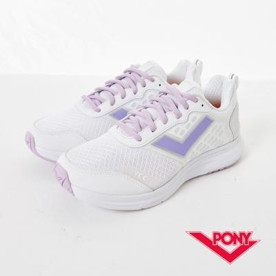 PONY 女_Power Run系列_動能機能慢跑鞋_白紫
