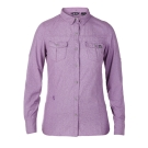 【Berghaus 貝豪斯】女款銀離子透氣抗UV長袖襯衫S05F02-紫